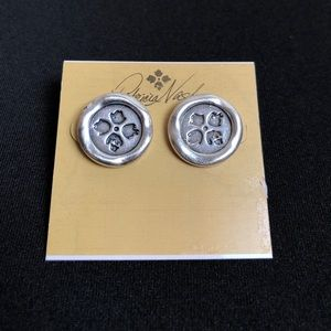 Patricia Nash Silver Wax Charm Earrings